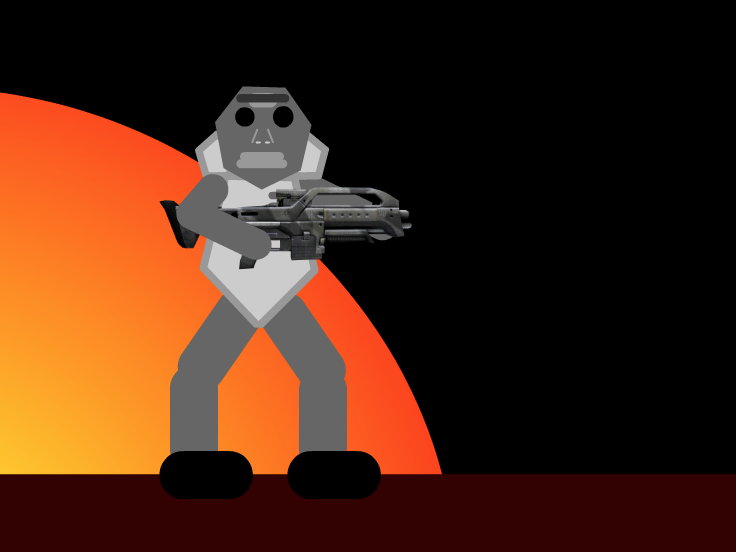 Epic Soldier In Space